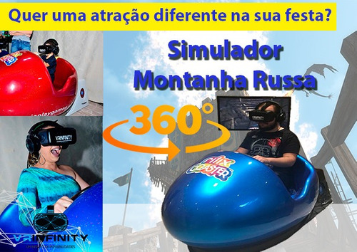 simulador montanha russa - realidade virtual