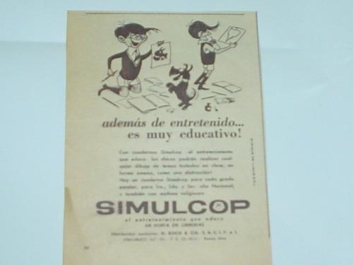 simulcop cuaderno h. koch  publicidad 1960 enrique de luque