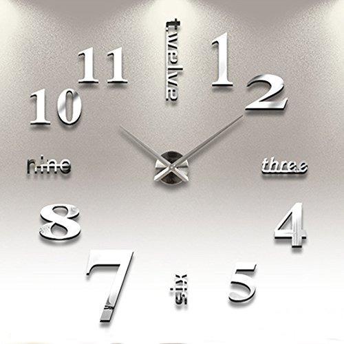 sin marco reloj de pared relojes de estilo horas de bricolaj