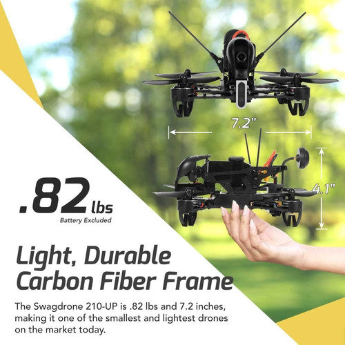 sin rival swagtron swagdrone 210-up - 5,8 g de fibra de carb