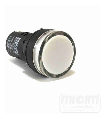 sinaleiro led 22mm 24v (micim) - 12pcs (6 vm. + 6 brancos)