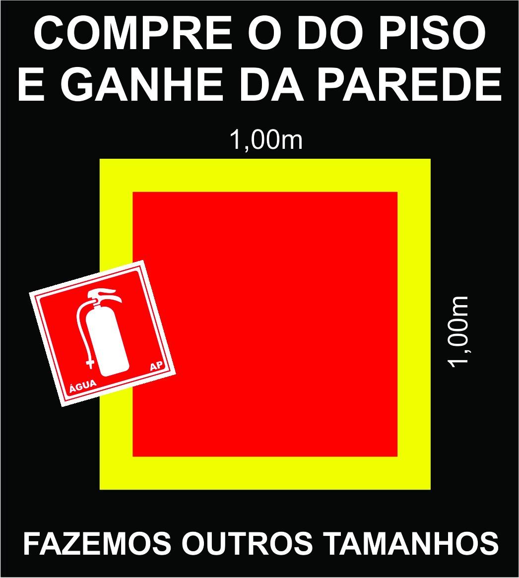 Armario Definición Rae ~ Sinalizaç u00e3o Piso Extintor De Inc u00eandio + Brinde Menor Custo R$ 44,90 em Mercado Livre