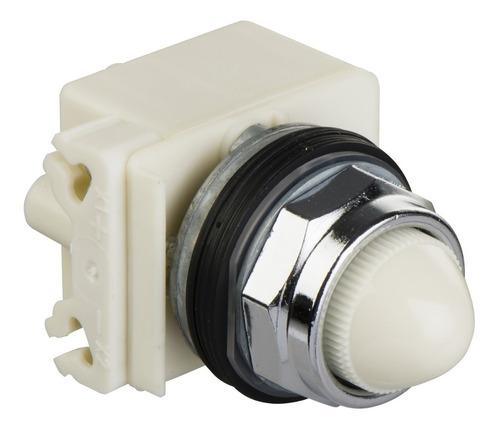 sinalizador 30mm metálico alim. direta branco schneider