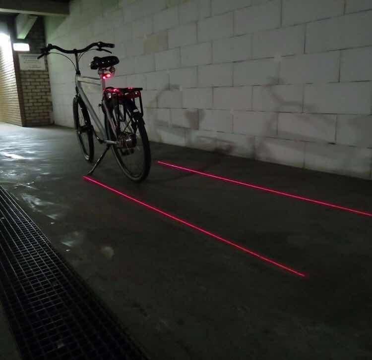 c988d0025 Sinalizador Bike Bicicleta Led Luz Laser Traseira Farol - R$ 15,99 ...