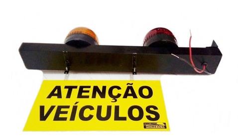 sinalizador de garagem ambar - vermelho 40cm 110v ou 220v