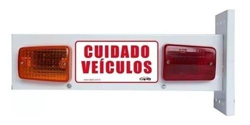 sinalizador led cuidado veiculo sinaleira portão automatico