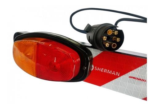 sinalizador luz traseira p/ suporte transbike altmayer al-91