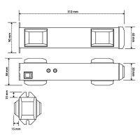 sinalizador para entrada e saída de veículos para garagem