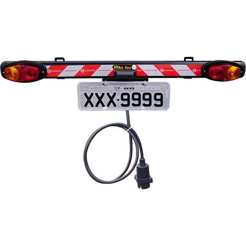sinalizador para suporte transbike bicicleta com porta placa