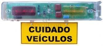 sinalizador sinaleira garagem audiovisual led ipec fotocelul