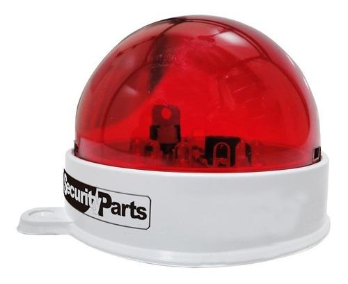 sinalizador visual com 12 led para alarmes security parts