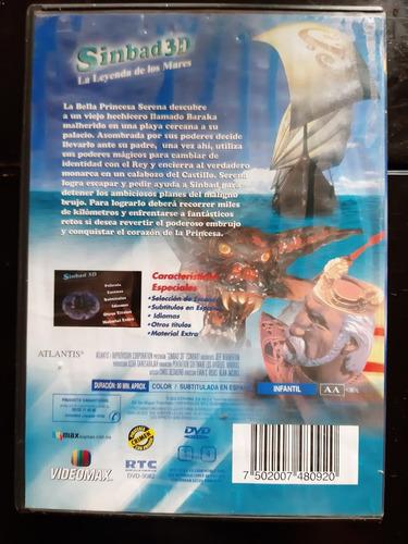 sinbad 3d la leyenda de los mares dvd