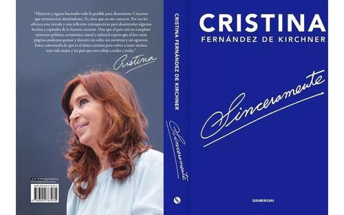 sinceramente cristina kirchner libro ya disponible !!!