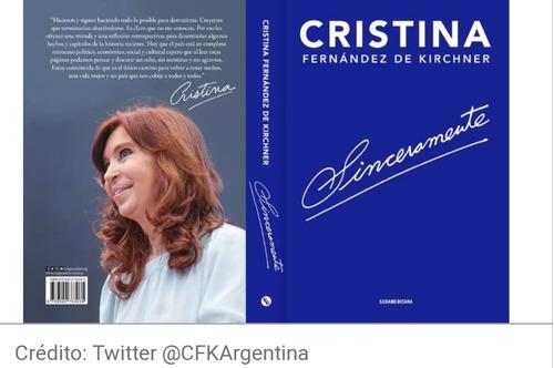 sinceramente - cristina kirchner - sudamericana entreg. inm.