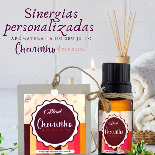 sinergias de óleos essenciais personalizados.