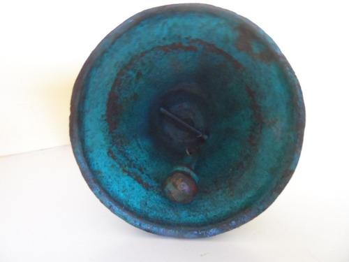 sineta de mão em ferro forget - peça centenária