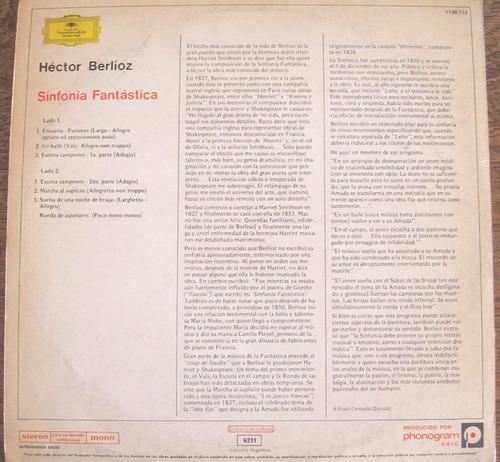 sinfonía fantástica - hector berlioz - vinilo lp nacional