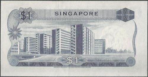 singapur 1 dollar nd1967 p1a