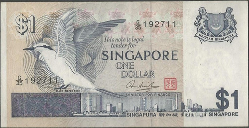 singapur 1 dollar nd1976 p9