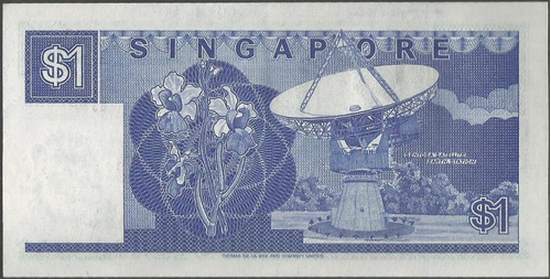singapur 1 dollar nd1987 p18a