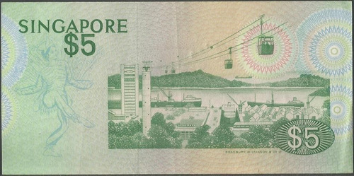 singapur 5 dollars nd1976 p10