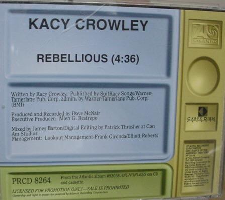 single   :  kacy  crowley  -  importado   - b81