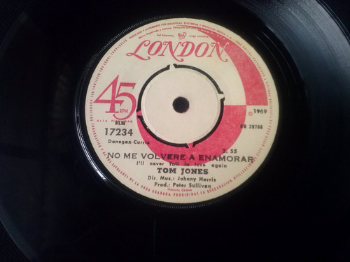 single tom jones - no me volvere a enamorar