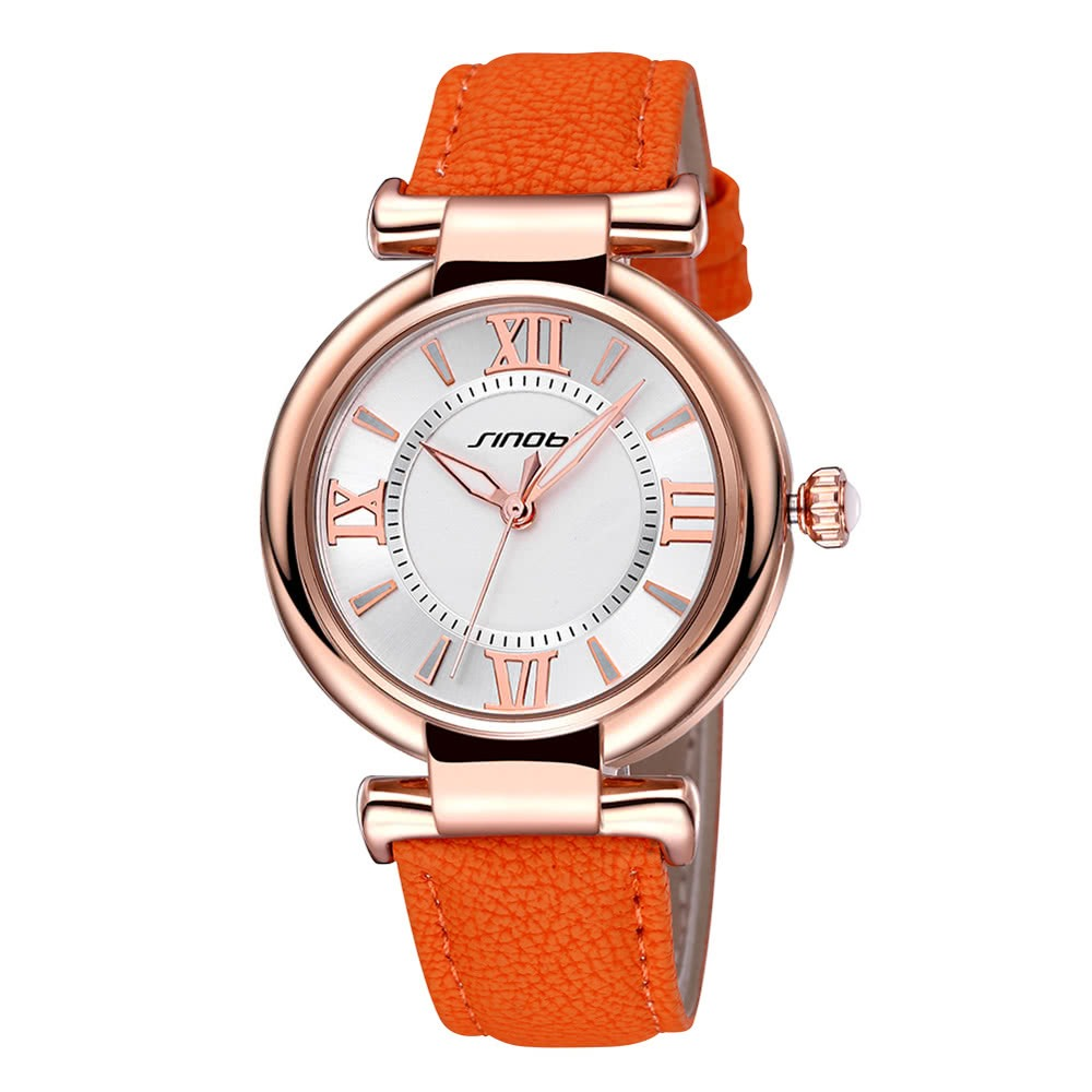 Sinobi Superior Marca Nuevo Lujo Cuero Mujeres Reloj # 3