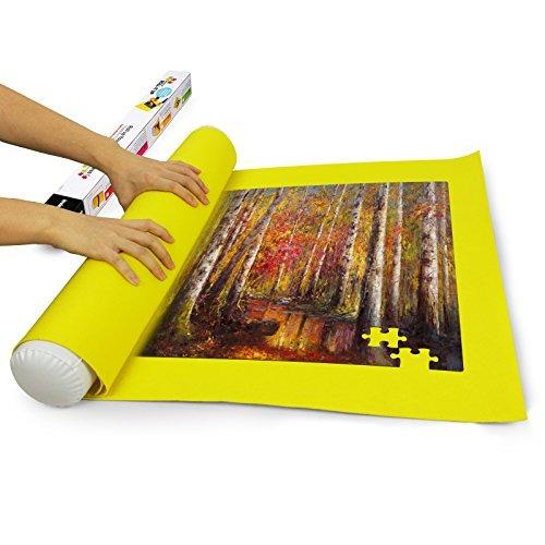 sinoguo yellow felt mat para rompecabezas de almacenamiento