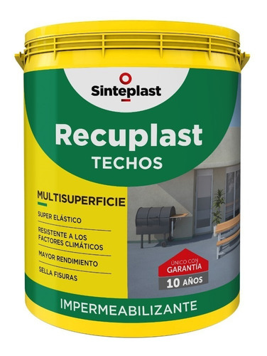 sinteplast recuplast techos 10l impermeable 10 años garantia