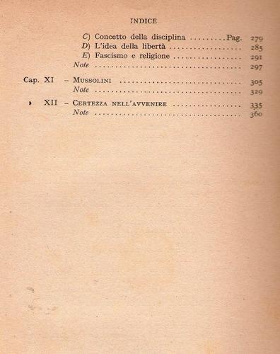 sintesi di mussolini scritti e discorsi e. spinetti en ital.