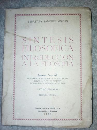 sintesis filosofica - introduccion a la filosofia