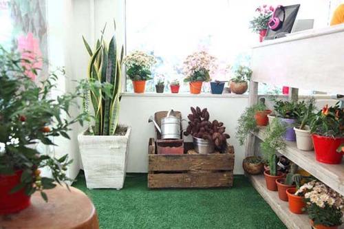 sintética jardim grama