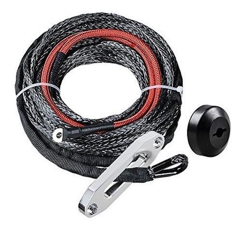 sintético cabrestante cable de cuerda wtapón de goma hawse