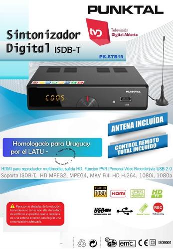 sintonizador de tv digital abierta isdb-t punktal hdmi usb