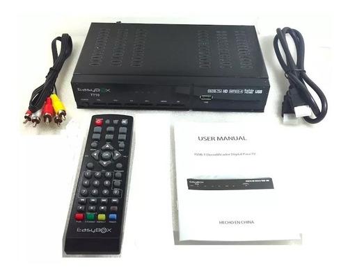 sintonizador decodificador tv digital hd 1080i easybox t710