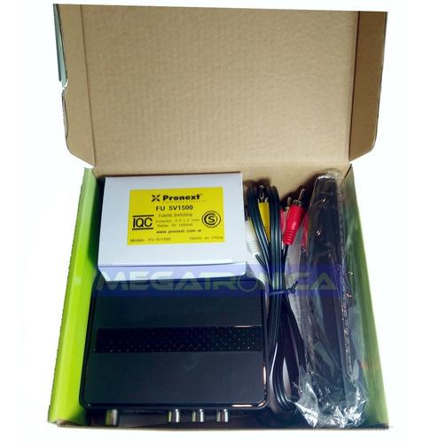 sintonizador decodificador xt55 tda + antena interior 20dbi