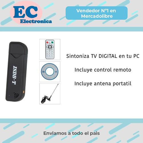 sintonizador tv digital conexión usb ideal pc notebook television control remoto garantia