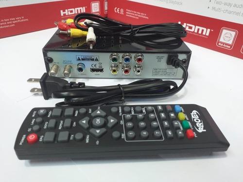 sintonizador tv digital hd canales libre isdb-t tdt hdmi rca