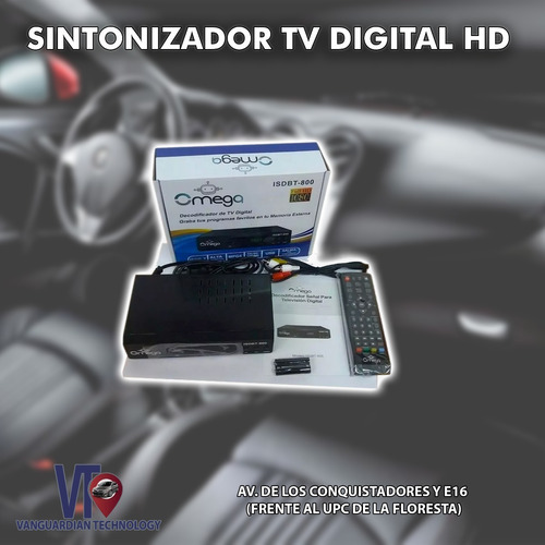 sintonizador tv digital hd grabador isdbt