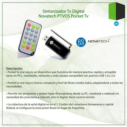 sintonizador tv digital novatech ptvos pocket tv