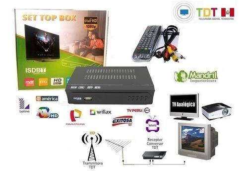 sintonizador tv digital receptor canales nacionales tdt