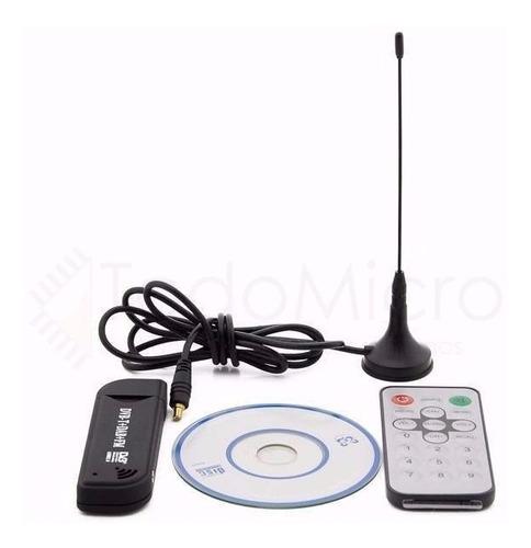 sintonizador tv digital tda usb antena pc notebook mundial