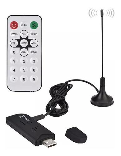 sintonizador tv digital tda usb pc note antena control remot