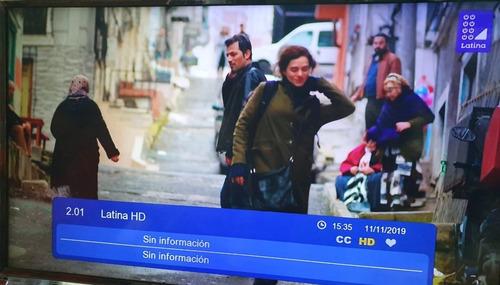sintonizador tv digital terreste canales nacionales tdt
