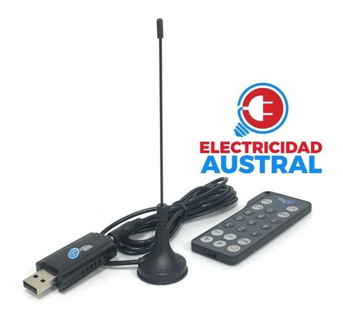sintonizador usb tv digital p/para pc antena c/remoto noga