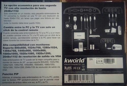sintonizadora externa kworld 2048ex titanium full hd