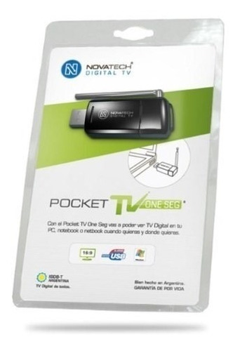 sintonizadora tv digital novatech pocket one seg (usb)