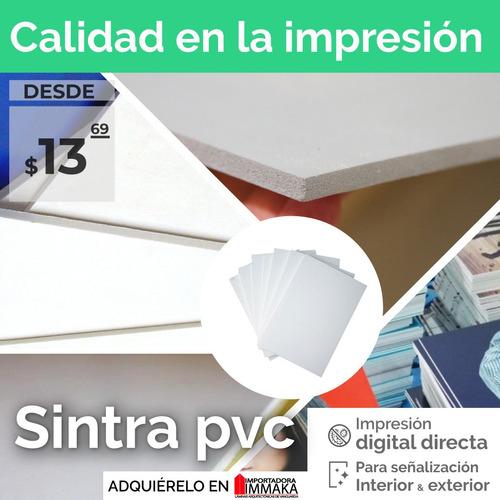 sintra pvc 1.22x2.44x3mm rigido para publicidad impresa