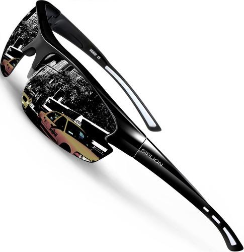 siplion gafas de sol polarizadas para hombre gafas deportiva